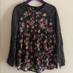 Zara Girls floral blouse size 7 fits 5-6